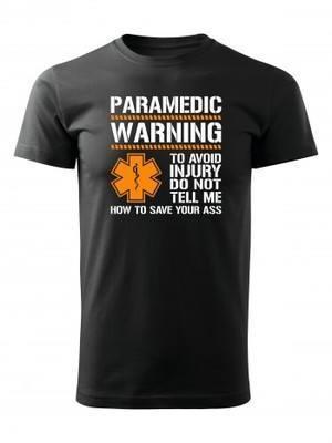 Tričko PARAMEDIC WARNING