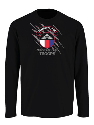 Tričko s dlouhým rukávem 43. výsadkový pluk