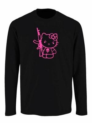 Tričko s dlouhým rukávem Hello Kitty Punisher Kalashnikov