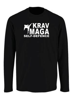 Tričko s dlouhým rukávem Krav Maga - self defence fighter
