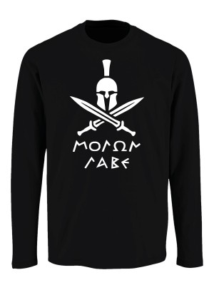 Tričko s dlouhým rukávem Molon Labe Swords