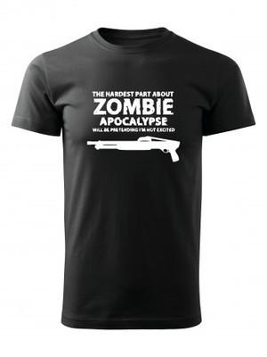 Tričko Zombie Apocalypse Shotgun FORT