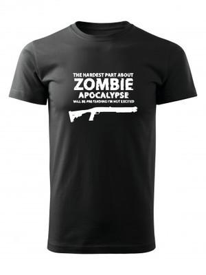 Tričko Zombie Apocalypse Shotgun Remington