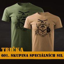 trička 601. skupina speciálních sil